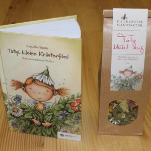Buch und Teemischung - Tatys kleine Kräuterfibel, Taty blüht auf